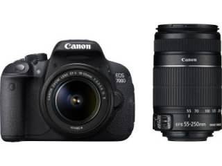 Canon EOS 700D Double Zoom (EF S18 - 55 mm IS II and EF S55 - 250 mm II) Digital SLR Camera Price