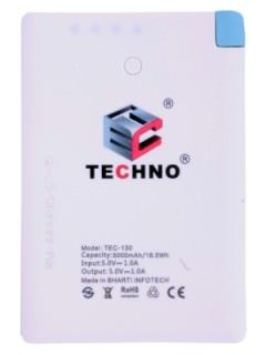 Techno TEC-130 5000 mAh Power Bank Price