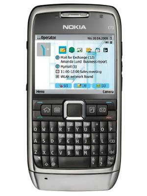 Nokia e71 book for number